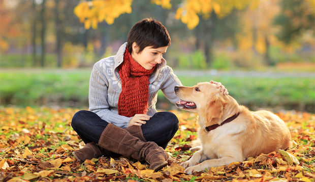 woman-and-her-dog