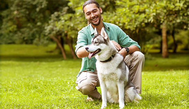 bigstock-Man-And-Husky-Dog-Walk-In-The--68551576
